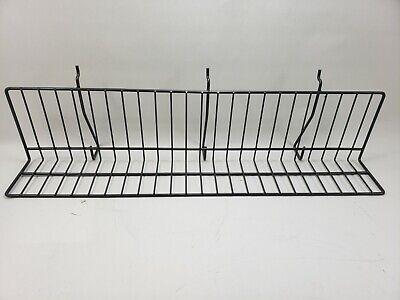 Reeve 24 X 5 X 4 Slatwall Pegboard Slanted Wire Display Shelf- Used