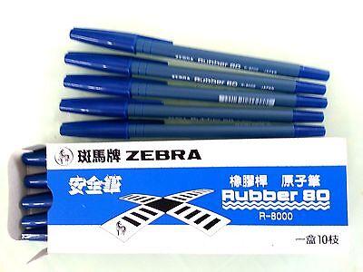 Zebra Rubber 80 R8000 Blue ink Ball-point pens 10 pcs, Best selling item