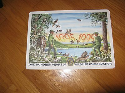 VINTAGE PA.GAME COMMISSION 100 YEARS OF WILDLIFE SIGNED MAT/PRINT N. A. ROSATO