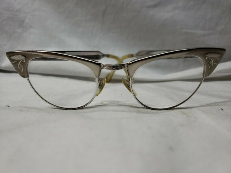 Vintage Aluminum Cat Eye Glasses