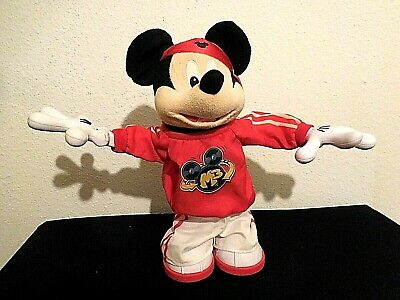 Mickey Mouse Dancing (Disney Fisher Price Master Moves Mickey Mouse M3 Rap Break Dancing Plush 15