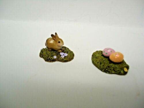 Wee Forest Folk A-01 and INC-09  Mini Bunny and Mini Eggs