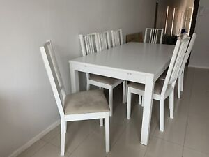 IKEA Extendable Dining Table and 8 Dining Chairs   Dining ...