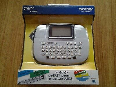 Brother P-touch Electronic Label Maker Pt-m95 New In Box Free Shipping