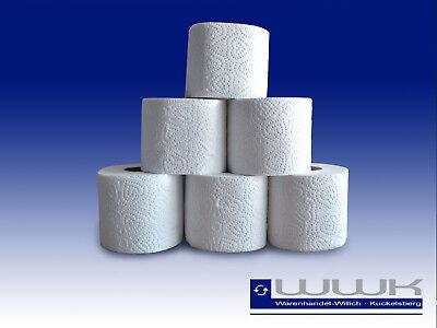 120 Rollen 4 lagig Toilettenpapier 150 Blatt  Klopapier WC weiß Zellstoff 100%