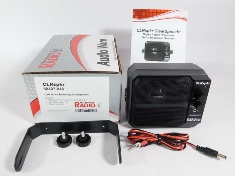 West Mountain CLRspkr 58407-948 Ham Radio Clear Speech DSP Speaker w/ Box