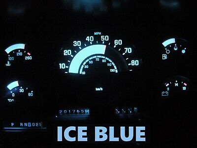 88 91 Chevy GMC C/K Series Truck Gauge Cluster LED Dashboard Bulbs Ice Blue
