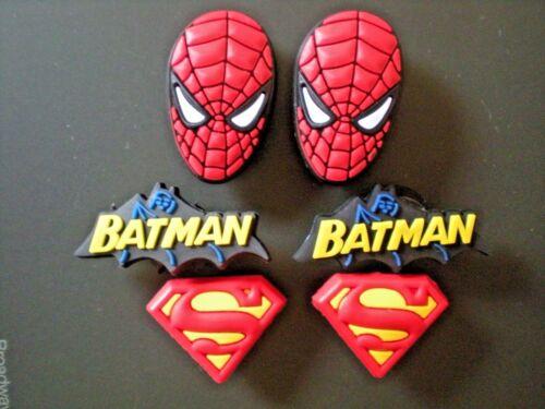 s Shoe Plug Button Charms Fit  Wristbands Belts 6 Spiderman Superman