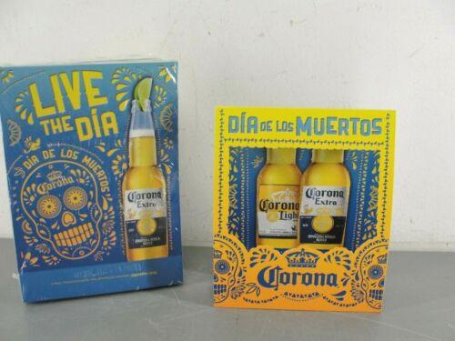 CORONA BEER CERVEZA 👑 CELEBRA DIA DE LOS MUERTOS DOTD TABLE TENT LOT 50 NEW