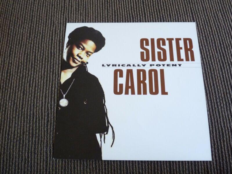 Sister Carol Lyrically Potent LP Poster Photo Double Sided Flat 12x12 RARE