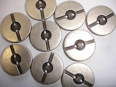 10 Knöpfe Metall altsilberfarben 17mm 2-Loch Z5.6