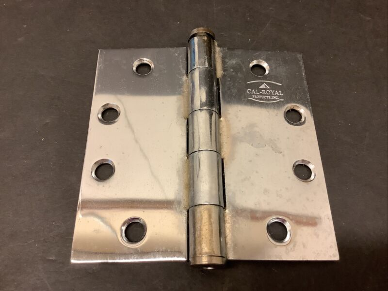 """Heavy Duity Ball Bearing Hinges 4.5"""" x 4.5"""" chrome commercial hinges 20 Avail"""