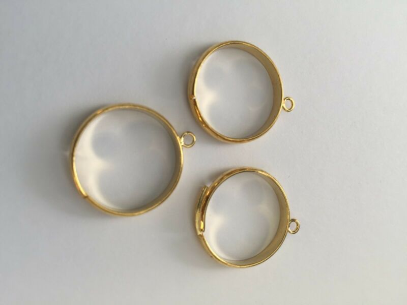 40 Pcs Gold Plated  Adjustable Ring  With one Loop Ring Making