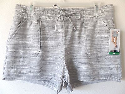 32 Degrees Womens XL Gray Storm Fleece Poly Rayon Spandex Shorts D/S Waist New Storm Fleece Shorts