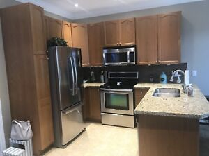 Complete kitchen with sink and granite top