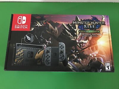 NEW Nintendo Switch 🔥 Monster Hunter Rise Deluxe Edition console 🔥 in hand 🔥