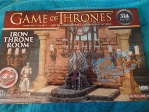 Game of Thrones Iron Throne Room  Autographed by White Walker Great item Bonus
