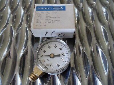 Ashcroft 0-160 Psi Pressure Gauge 20w1005h02l