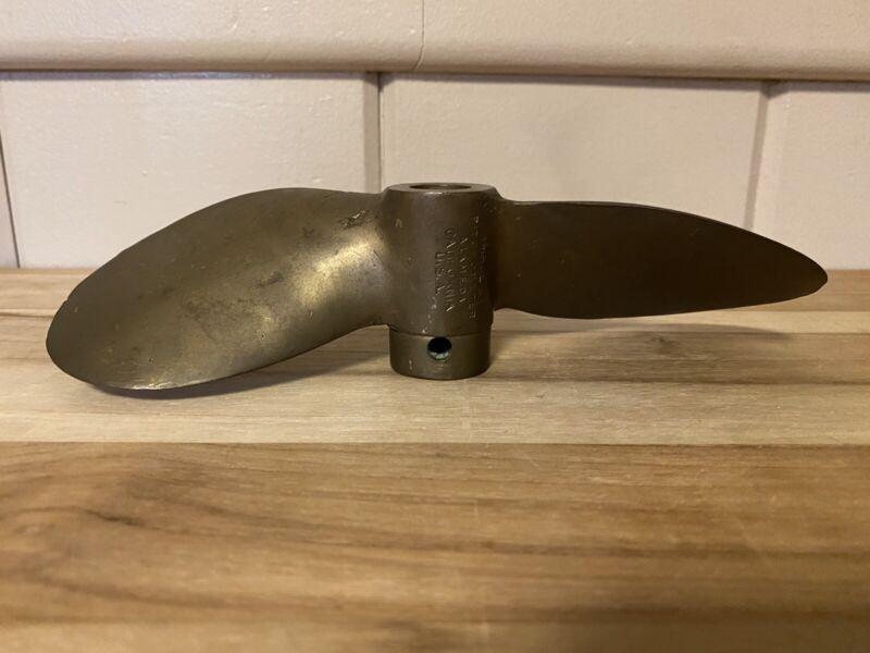 VTG. Pitchometer Bronze Propeller, Stamped  # 12 on Propeller Hub, Made in USA