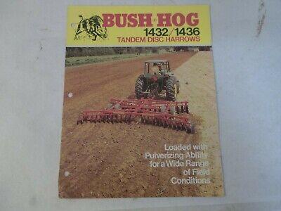 Bush Hog Models 1432 1436 Tandem Disc Harrows Brochure