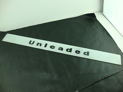 """Vintage Unleaded Gas Pump Gas Station Glass Sign 28 3/4"""" x 2 1/2"""""""