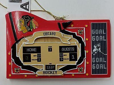 Nhl Chicago Blackhawks Score Board Ornament  New
