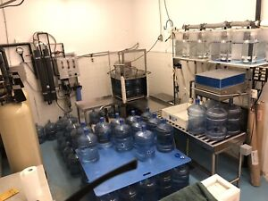 Bottled water purification plant
