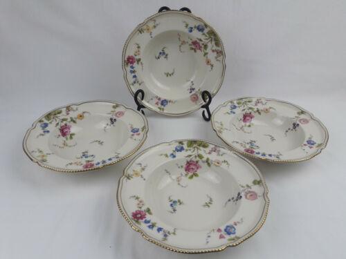 4 Vintage Castleton China SUNNYVALE Rimmed Soup/Cereal Bowls