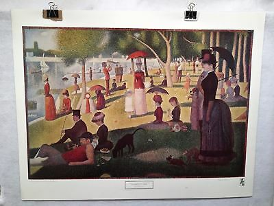 Georges Seurat Sunday Afternoon on the Island of La Grande Jatte Poster 29 x