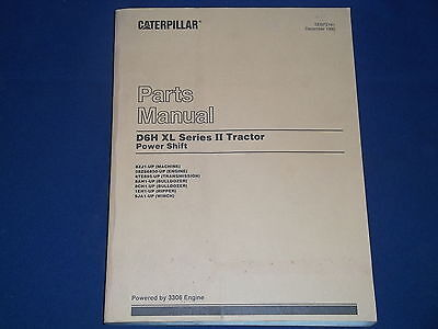 Cat Caterpillar D6h Xl Series Ii Crawler Tractor Dozer Parts Book Manual 8zj1-up