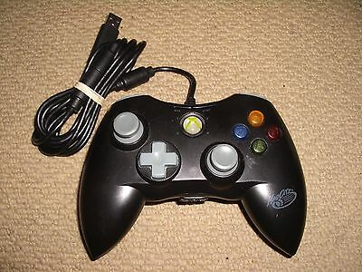 - MICROSOFT XBOX 360 WIRED USB CONTROLLER Black Gamepad Game Control Pad Mad Catz