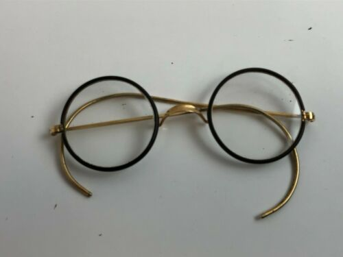 Vintage Round Wire Eyeglass Frame Harry Potter w/case