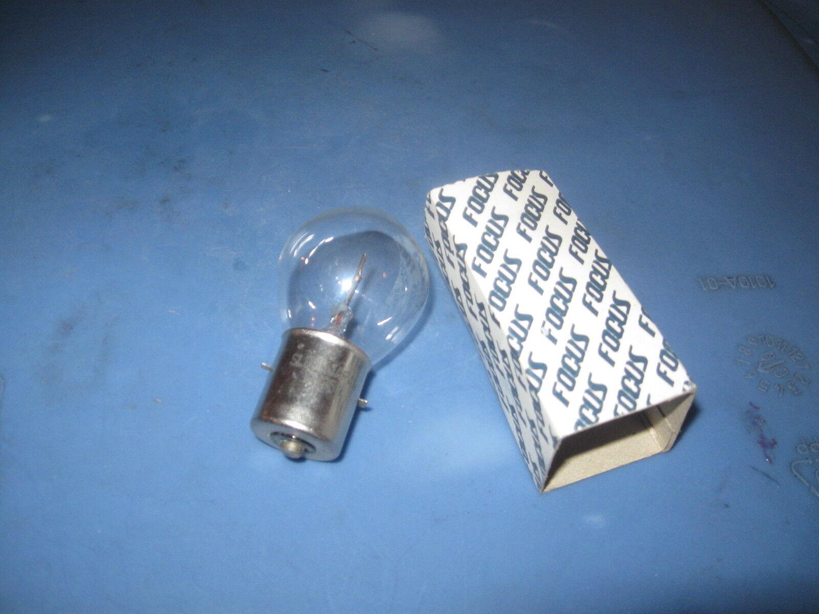 Snowmobile Headlight Bulb. 12V35W. Single Contact. NOS Focus