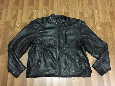 MENS 56 - Vtg British Motorcycle Gear Cafe Racer Biker Leather Jacket