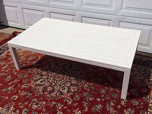 White gloss outdoor timber table, stunning Mosman Mosman Area Preview