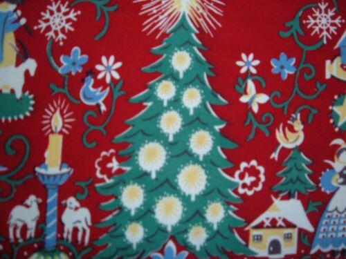 VINTAGE WILENDUR  TOWEL RED  CHRISTMAS MOTIF