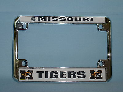 Missouri Frame - MISSOURI TIGERS  Chrome MOTORCYCLE  LICENSE PLATE FRAME  by Rico  NIP $15 retail