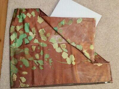 Somma 1867 Aerial Brown & Green Silk Scarf Shawl Throw