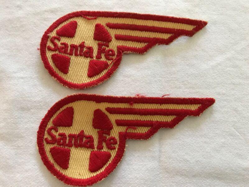 2 Santa Fe Railroad Vintage Patches