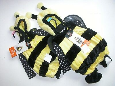 NEW NWT Halloween Costume Plush Bumblebee Bee (6-12M) (12-18M) Infant Baby
