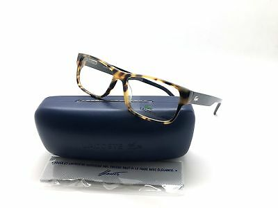 Lacoste Rectangle  L2660-218-5515 Yellow Havana 55mm Eyeglasses