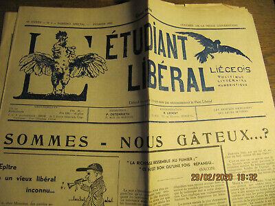 Journal L'Etudiant Libéral Liégeois Février 1949 N°5