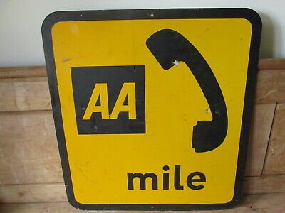AA telephone sign. vintage sign. garage sign.RAC. for sale  Shipping to Ireland