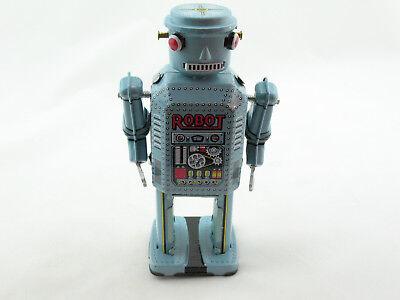 Blechspielzeug,Figürlich Zwei Roboter mit Fahrzeug Made in China
