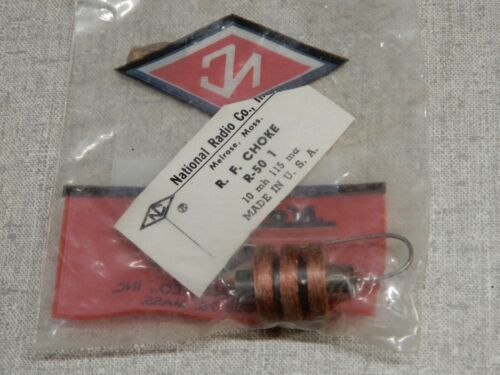 National Radio Co. R.F. Choke R-50 1 NOS Quantity 1 - 10 mh 1315 ma