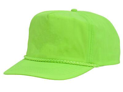 Crinkle Cap - Nylon Crinkle Golf Cap - Neon Green