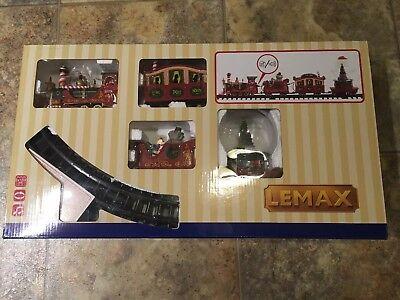 LEMAX North Pole Express Train Set Holiday Village Sights & Sounds Train
