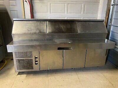 Randall Raised Rail Refrigerated Prep Table Tested 115v
