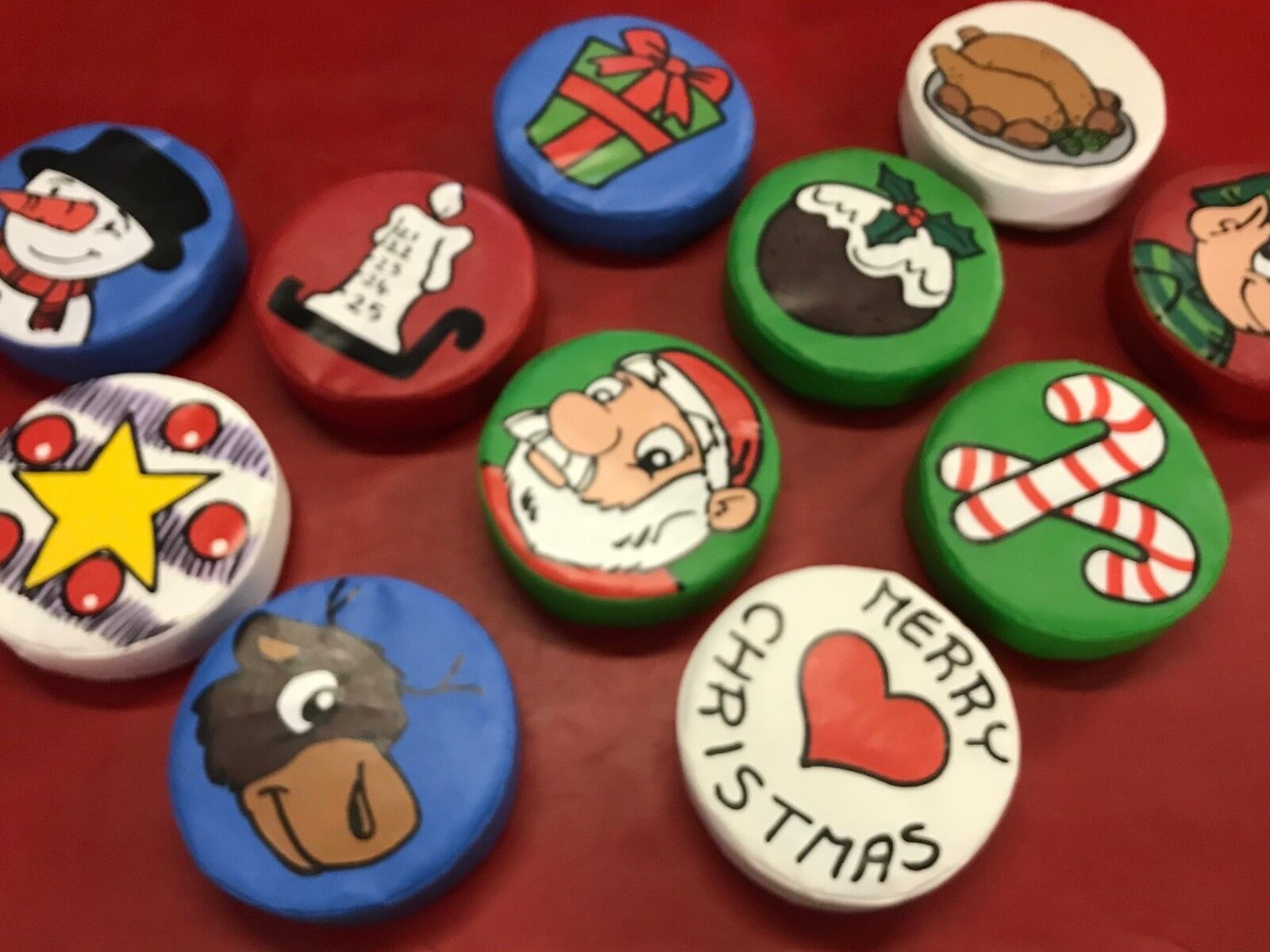 Christmas/ winter 12 x Soft Play Stepping Stones