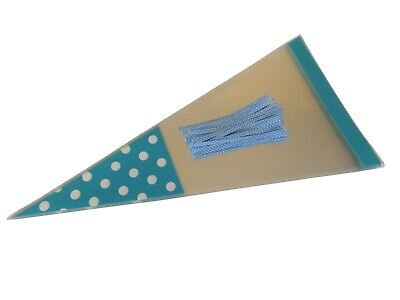 Baby Blue Candy (BLUE Baby Shower Polka Dot Cello Cone Bags & Twist Ties Sweet Candy Boy)